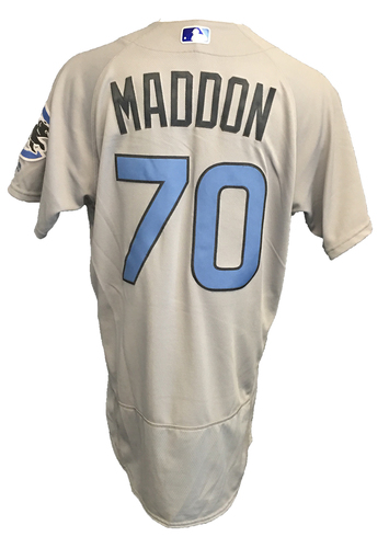 Photo of Joe Maddon Game-Used Father's Day Jersey -- Cubs vs Pirates -- 6/17/17