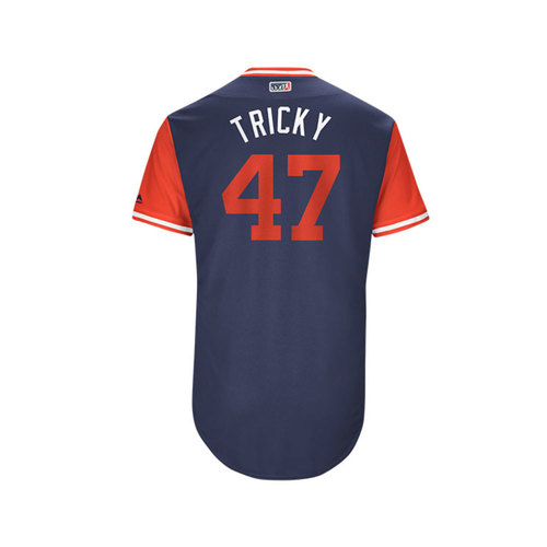 "Photo of Ricky ""Tricky"" Nolasco Los Angeles Angels Game-Used Players Weekend Jersey"