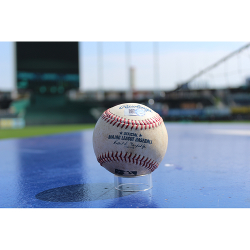 Photo of Game-Used Baseball: Nicholas Castellanos 100th Career Double, 442nd Career Hit (DET at KC - 5/31/17)