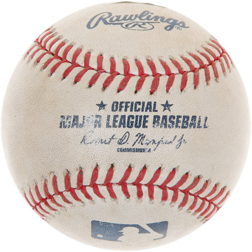 Photo of Game-Used Baseball from Alex Bregman's 1st Career Major League Hit Game