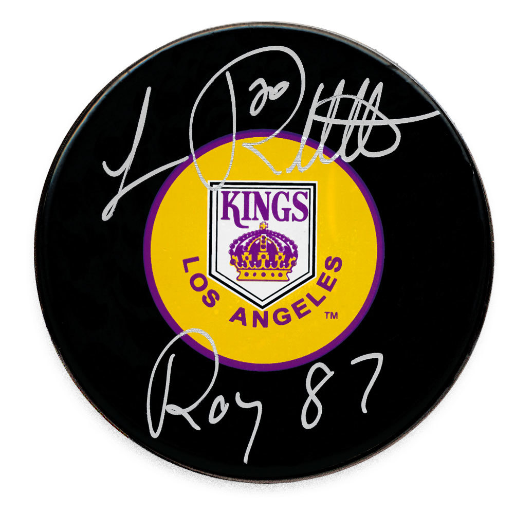 Luc Robitaille Los Angeles Kings ROY 87 Autographed Puck