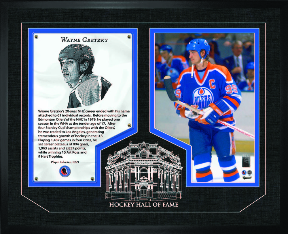 Wayne Gretzky - Framed HHOF Glass Edmonton Oilers