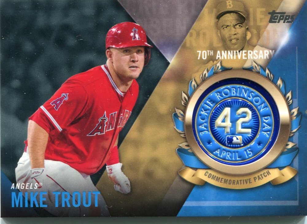 2017 Topps Jackie Robinson Logo Patches #JRPCMTR Mike Trout