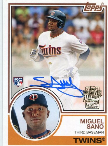 Photo of 2016 Finest Firsts Autographs #FFAMS Miguel Sano -- Twins post-season