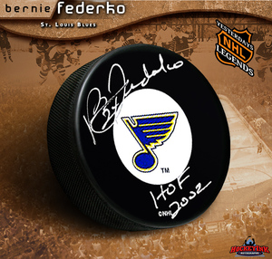 BERNIE FEDERKO Signed St. Louis Blues Puck