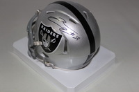 RAIDERS - LAMARR WOODLEY SIGNED RAIDERS MINI HELMET
