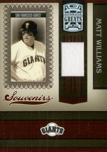 Photo of 2005 Donruss Greats Souvenirs Material Jersey #13 Matt Williams T3