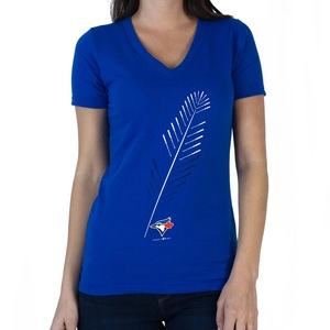 Women's at Feather V-Neck T-Shirt by SustainU