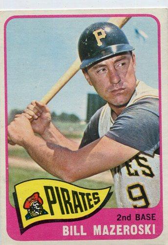 Photo of 1965 Topps #95 Bill Mazeroski -- Pirates Hall of Famer