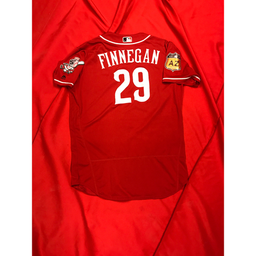 Brandon Finnegan -- Team-Issued Jersey -- 2017 Spring Training