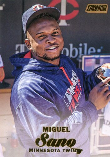 Photo of 2017 Stadium Club Gold Foil #222 Miguel Sano -- Twins post-season