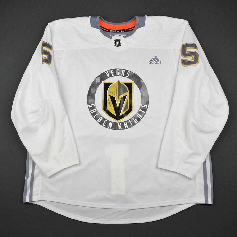 Deryk Engelland Warmup Worn/Autographed Practice Jersey - Vegas Golden Knights