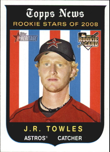 Photo of 2008 Topps Heritage #144 J.R. Towles RC