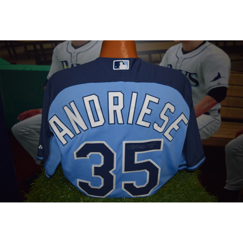 Photo of Autographed Team-Issued Batting Practice Jersey: Matt Andriese