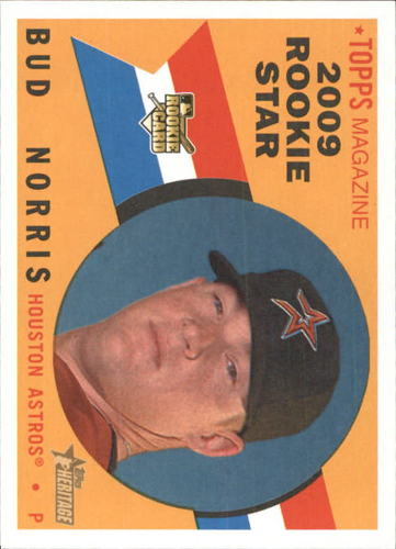 Photo of 2009 Topps Heritage #519 Bud Norris RC