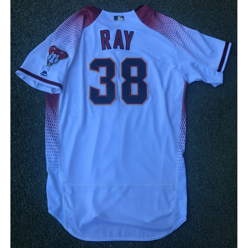 Photo of Robbie Ray Game-Used 2017 Commemorative Opening Day Jersey