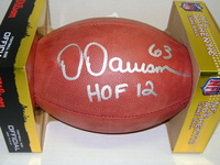 HOF - STEELERS DERMONTTI DAWSON SIGNED AUTHENTIC FOOTBALL