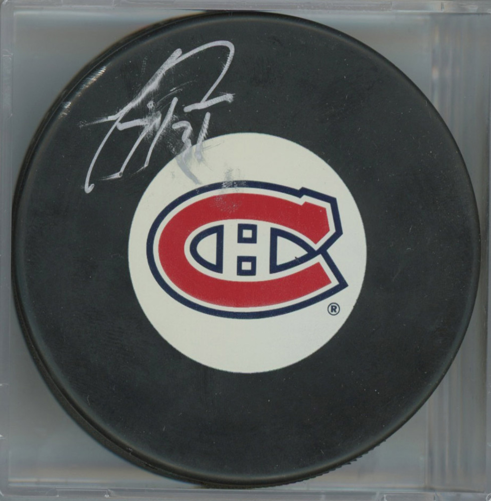 CAREY PRICE Montreal Canadiens Autographed Hockey Puck *Autograph Slightly Smudged*