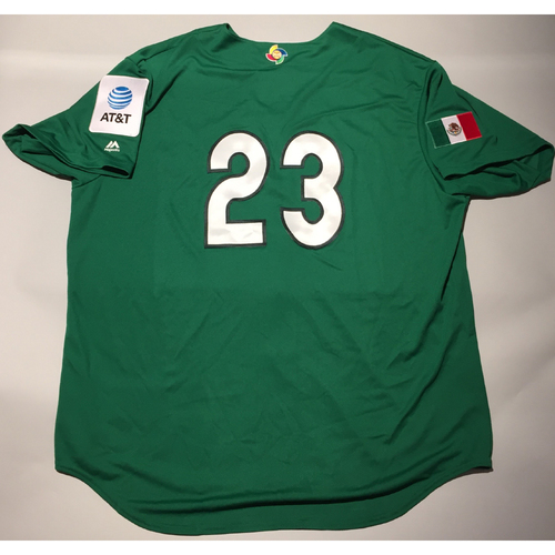 Photo of 2017 WBC: Mexico Team-Issued Batting Practice Jersey, Adrian Gonzalez #23