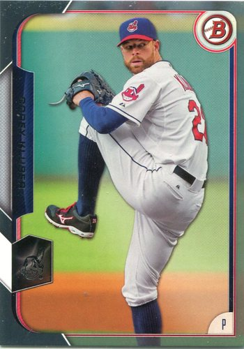 Photo of 2015 Bowman Silver #80 Corey Kluber 113/499 -- Indians post-season
