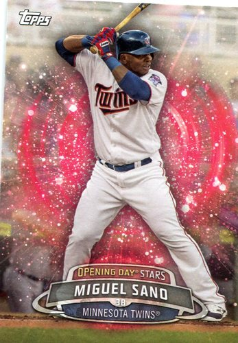 Photo of 2017 Topps Opening Day Opening Day Stars Miguel Sano -- Twins post-season