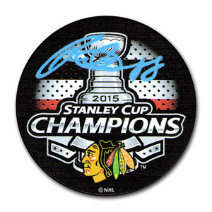 Patrick Kane Autographed Chicago Blackhawks 2015 Stanley Cup Champions Puck