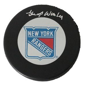 Gump Worsley (deceased) New York Rangers Puck