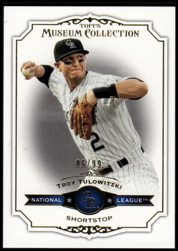 Photo of 2012 Topps Museum Collection Blue #74 Troy Tulowitzki