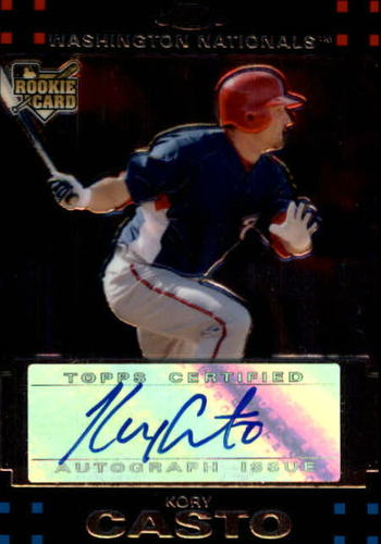 Photo of 2007 Topps Chrome #355 Kory Casto AU (RC)