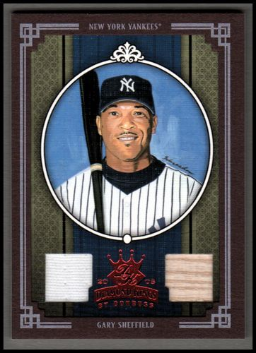 Photo of 2005 Diamond Kings Materials Framed Red #155 Gary Sheffield Bat-Jsy/100