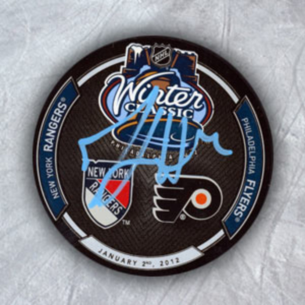 Michael Del Zotto New York Rangers Autographed 2012 Winter Classic Hockey Puck
