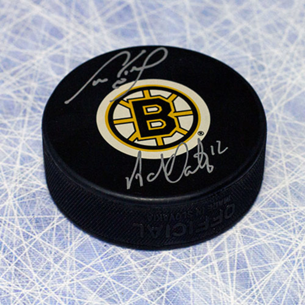 Cam Neely & Adam Oates Boston Bruins Dual Signed Legendary Linemates Hockey Puck