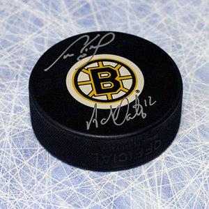 Cam Neely & Adam Oates Boston Bruins Dual Signed Legendary Linemates Hockey Puck