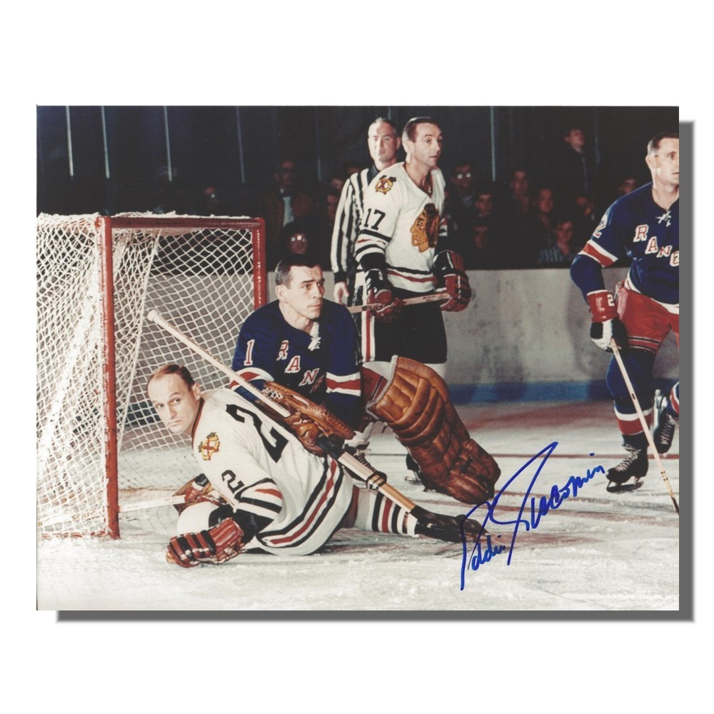 Eddie Giacomin Autographed New York Rangers 8x10 Photo