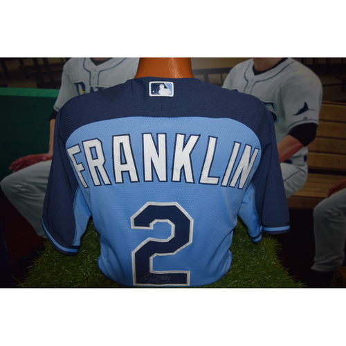 Photo of Autographed Team-Issued Batting Practice Jersey: Nick Franklin