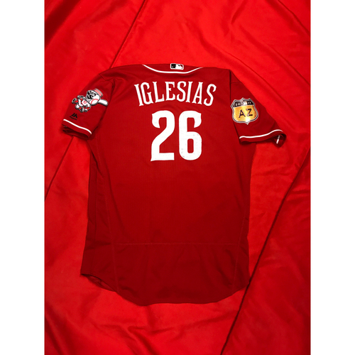 Photo of Rasiel Iglesias -- Team-Issued Jersey -- 2017 Spring Training