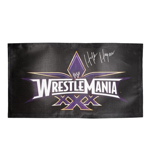Hulk Hogan SIGNED WrestleMania 30 Logo Banner