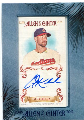 Photo of 2015 Topps Allen and Ginter Framed Mini Autographs  Corey Kluber -- Indians post-season
