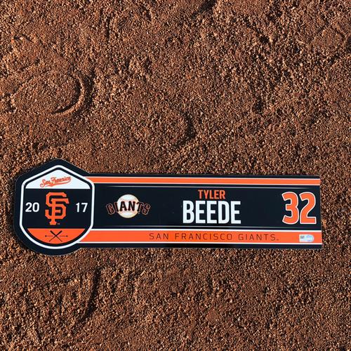 Photo of San Francisco Giants - HOLIDAY STEALS - 2017 Locker Tag - 2017 Regular Season - #32 Tyler Beede