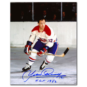 Yvan Cournoyer Montreal Canadiens Rookie HOF Autographed 8x10