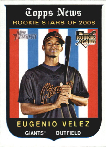 Photo of 2008 Topps Heritage #145 Eugenio Velez RC