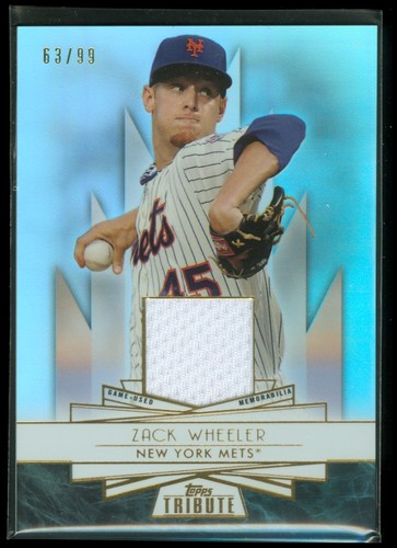 Photo of 2014 Topps Tribute Forever Young Relics #FYRZW Zack Wheeler