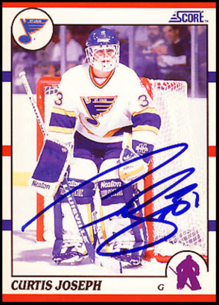 Curtis Joseph Autographed 1990 Score Rookie Card - St Louis Blues