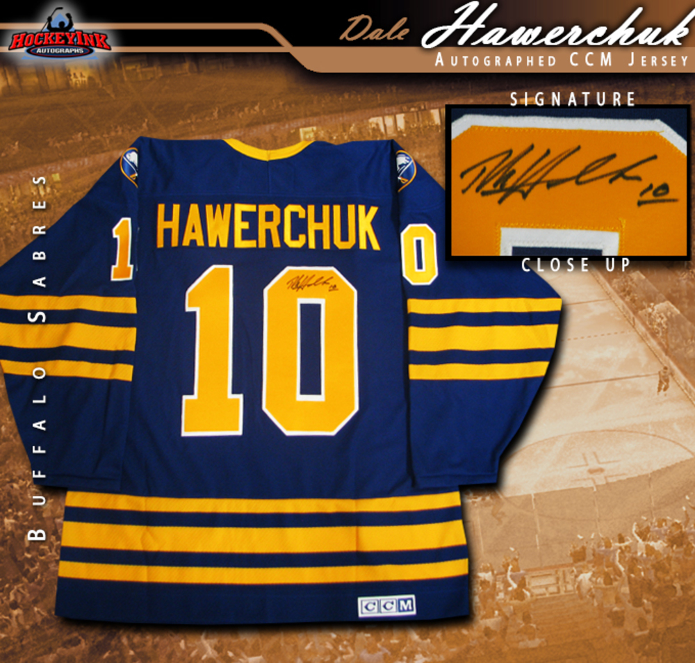 DALE HAWERCHUCK Signed Buffalo Sabres CCM Jersey