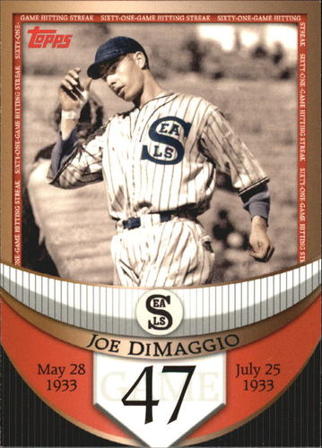 Photo of 2007 Topps DiMaggio Streak Before the Streak #JDSF47 Joe DiMaggio