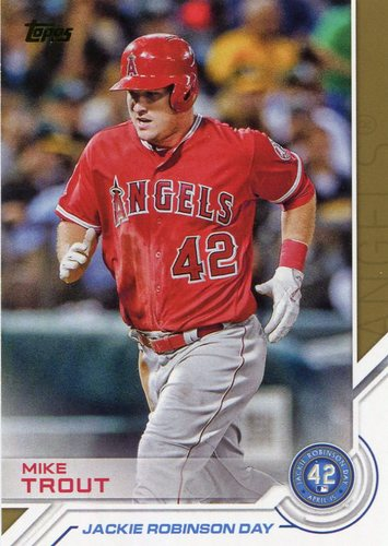 Photo of 2017 Topps Jackie Robinson Day #JRD15 Mike Trout