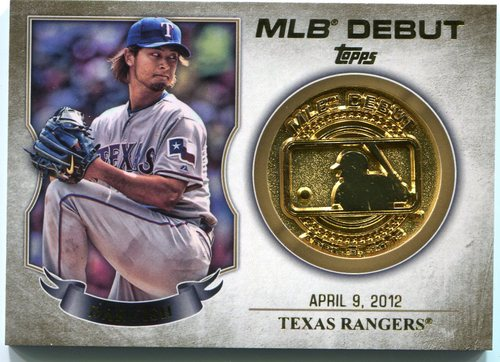 Photo of 2016 Topps MLB Debut Medallion #MDMYD Yu Darvish