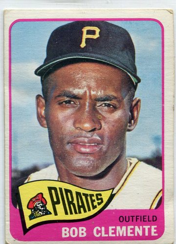 Photo of 1965 Topps #160 Roberto Clemente -- Pirates Hall of Famer