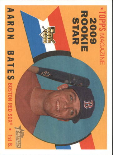 Photo of 2009 Topps Heritage #528 Aaron Bates RC