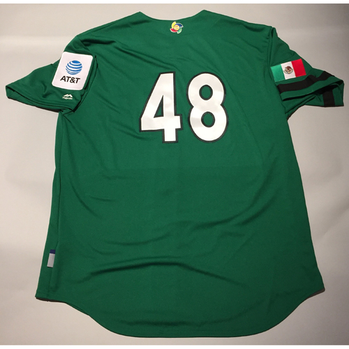 Photo of 2017 WBC: Mexico Team-Issued Batting Practice Jersey, Joakim Soria #48
